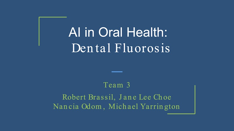 AI and Oral health